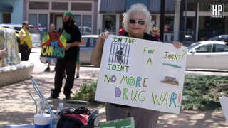 """Weed Is Not A Drug"": Marijuana March in Downtown Houston"
