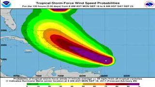 Huracán 'María' alcanza la categoría 4 en el Caribe