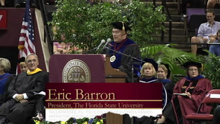 Former FL Supreme Court Justice delivers last commencement address