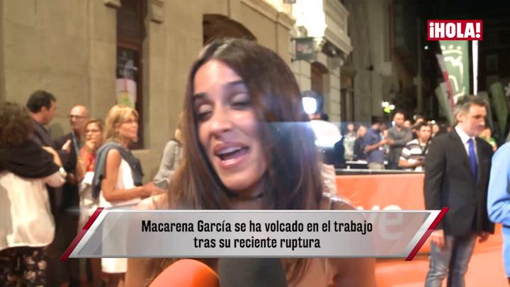 Primeras declaraciones de Macarena García tras su ruptura con Leiva