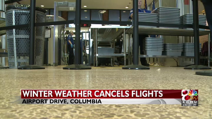 Winter weather cancels flights for Mid-Missouri
