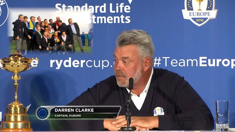 Video: Ryder Cup captain Darren Clarke discusses selections