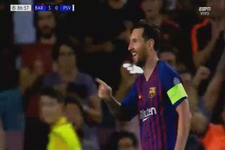 Messi anota el 4 - 0 del Barcelona ante el PSV