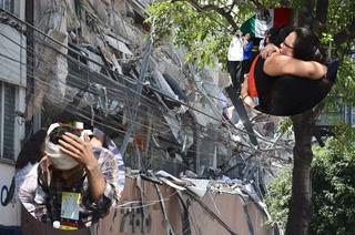 Gritos desesperados: se desplomó edificio con personas adentro