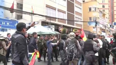 Marchas a favor y en contra de reelección de Morales en Bolivia