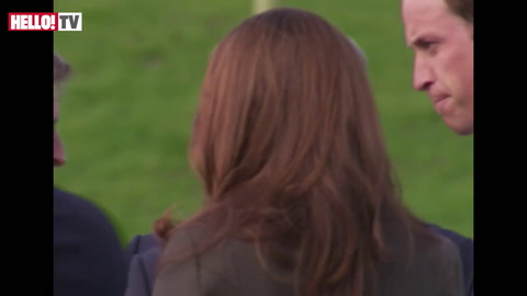 William and Kate meet the England football team