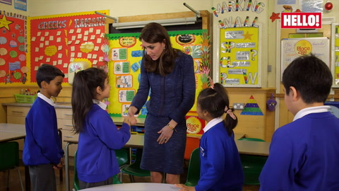 The Duchess of Cambridge interviews schoolchildren in video supporting Children\'s Mental Health Week: watch here