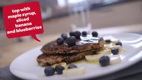 Video: Chocolate chip, banana and peanut butter pancakes