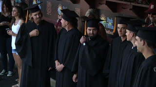Florida State University hold special graduation ceremony for baseball players