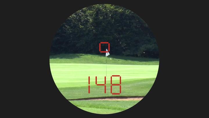 Leica pinmaster ii laser entfernungsmesser auf golf