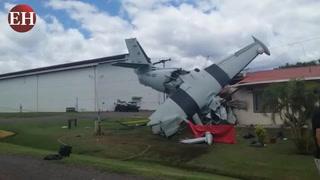 Muere piloto de avión accidentado en Palmerola, Comayagua
