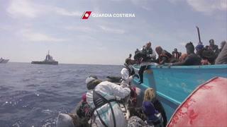 Difunden imágenes de un nuevo drama en el Mediterráneo
