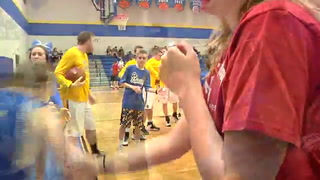 CRANE SPECIAL NEEDS STUDENT PLAYS VARSITY BB GAME