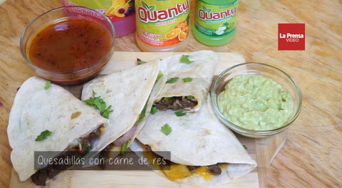Quesadillas con carne de res