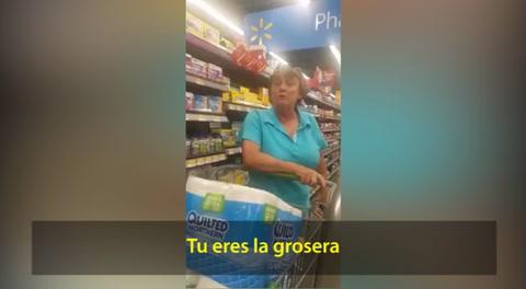Acto de discriminación en el supermercado Walmart de Estados Unidos