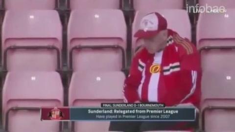 El descenso de Sunderland dejó una imagen conmovedora