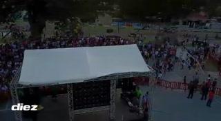 Locura en Chamelecón con la presencia de la Selección de Honduras