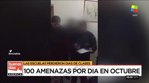 El sopapo de la madre a un joven acusado de realizar amenazas a colegios