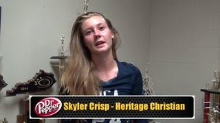 Crisp Helps Lead HCA to Four Set Win