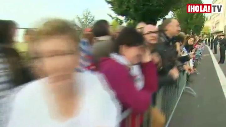 La llegada de los Príncipes de Asturias y los demás invitados a la boda real