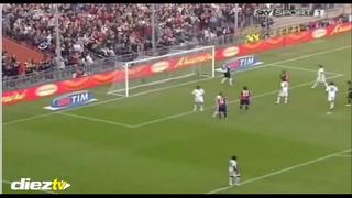 El día que Rambo anotó doblete a Palermo e intercambió camisa con Cavani