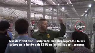 Niños inmigrantes 'enjaulados' en EEUU