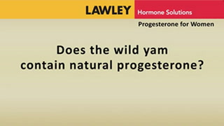 Does the wild yam contain natural progesterone?