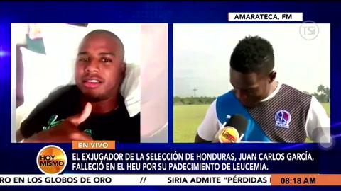 Maynor Figueroa se parte en llanto al recordar a Juan Carlos García
