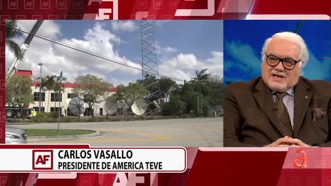 PDTE y CEO de América TeVé CV Network Carlos Vasallo explica alcance de nueva torre de transmisión