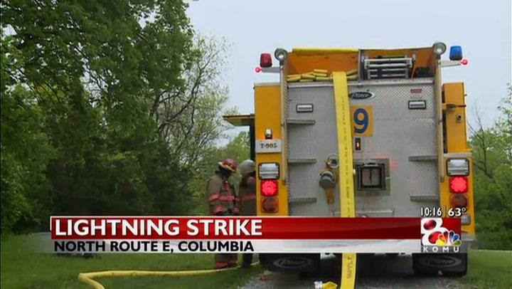 Lightning strike starts house fire