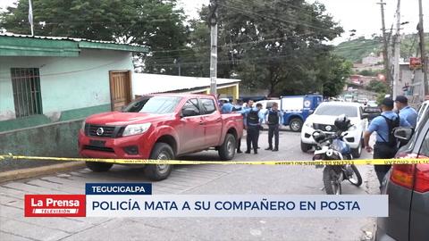 Policía mata a su compañero en posta