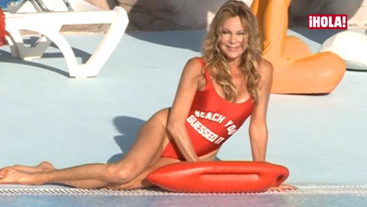 Así ha sido el sexy posado veraniego de Ana Obregón