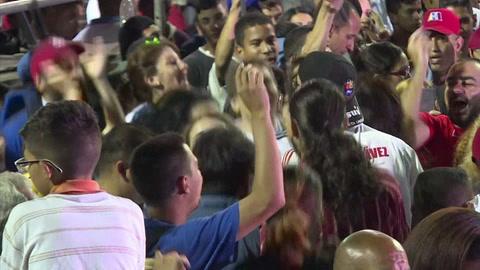 Partidarios de Maduro celebran su reelección en Venezuela