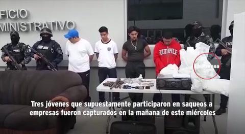 Capturan a sañalados de quemar postas y saqueos en Villanueva