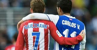 Griezmann festejó con un '¡Viva México!' y mandó saludos a Carlos Vela