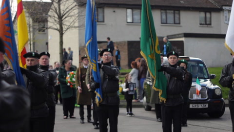 Video: Easter Rising commemoration parade on New Lodge Road, Belfast