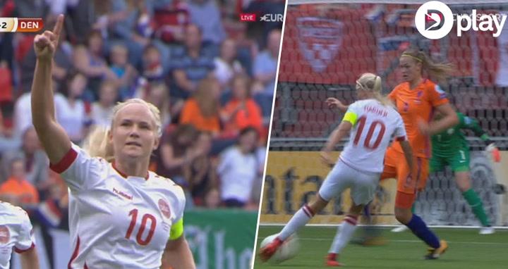 Vild underholdning - Pernille Harder udligner til 2-2 i EM-finalen