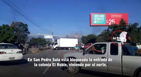 Cerradas varias vías de Honduras por tomas de la Alianza de Oposición