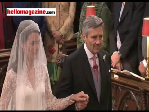 The historic ceremony as Kate and William wed