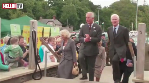 Charles and Camilla receive a box of Plum organic baby food for future grandchild
