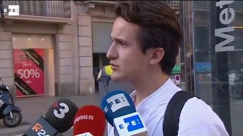 Testigo del atentado de Barcelona: