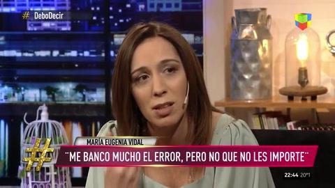 Debo Decir: las cosas por las que putea María Eugenia Vidal