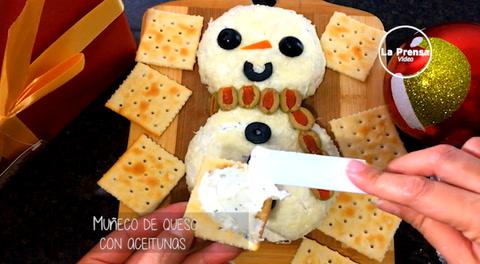 Cocinando con Mayte: Muñeco de queso con aceitunas