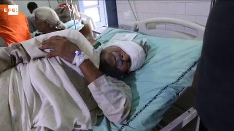 Elevan a 123 los heridos en el accidente de tren en la India