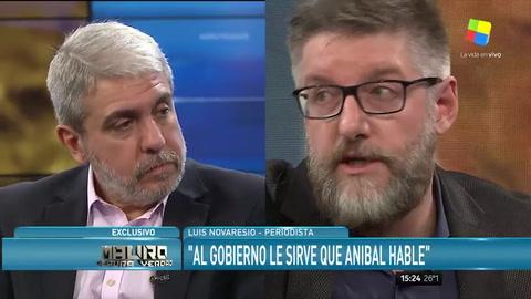 El picante contrapunto entre Novaresio y Aníbal Fernández por la gestión kirchnerista