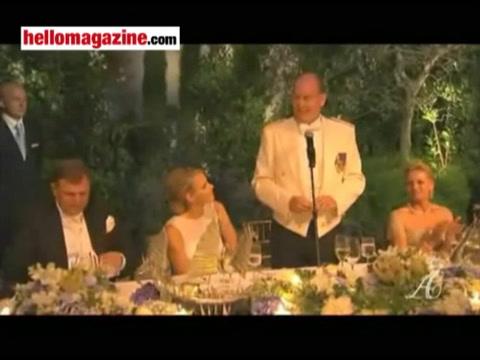 Prince Albert praises Charlene in a moving speech