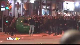 Terribles imágenes: Así fue la batalla campal que se produjo entre hinchas de Spartak y radicales de Bilbao