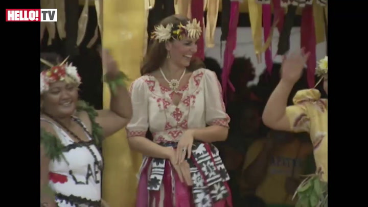 Kate joins in local dance ceremony in Tuvalu