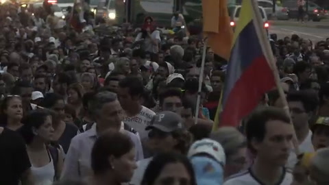 Vigilia por muertos en protestas en Venezuela