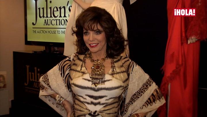 Sus vestidos, sus cartas de amor... la colección de Joan Collins, a subasta